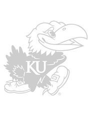 black and white jayhawk