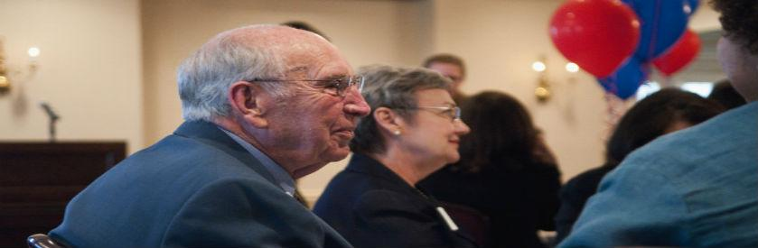 Picture of retirees at a KU awards dinner.