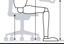 Illustration of proper chair height