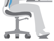 Image of correct posture with Footrest