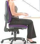 Image of Woman sitting in Chair properly