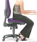 Image of woman slouching in chair