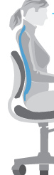 illustration of woman in chair with correct support