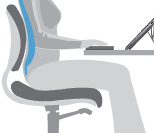 Imagie illustrating 3 inch gap between chair and legs