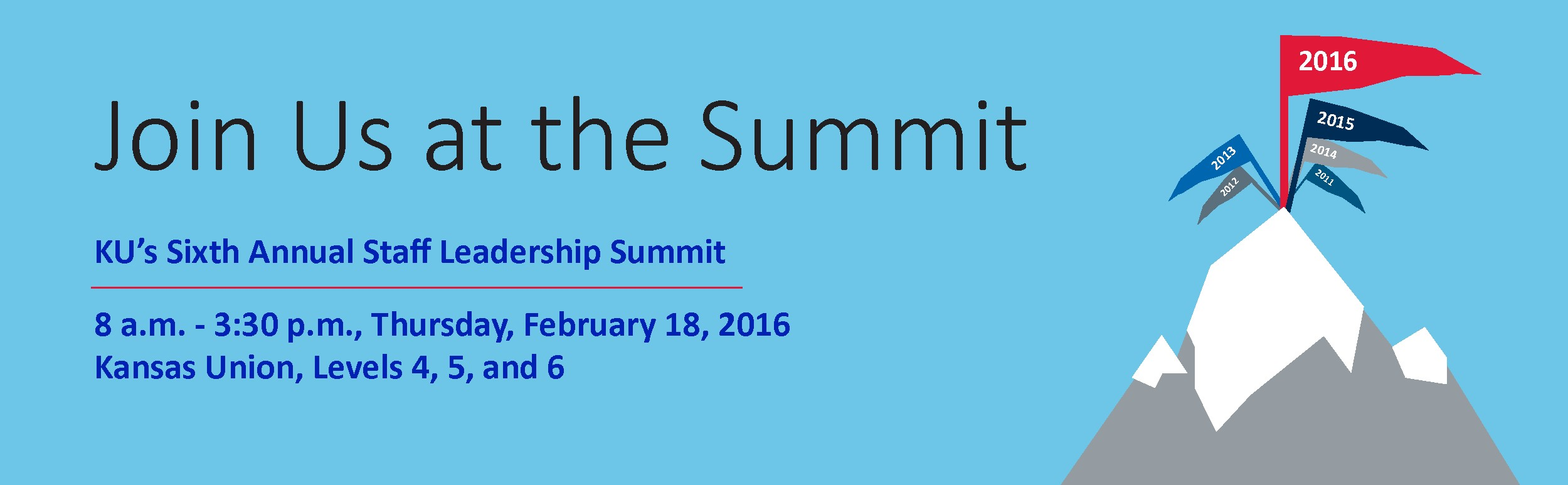 Join us at the Summitt February 18, 2015
