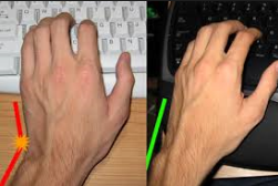 picture of bent and straight wrists